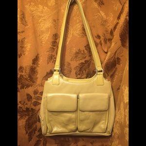 Giani Bernini's leather bag w man made trim